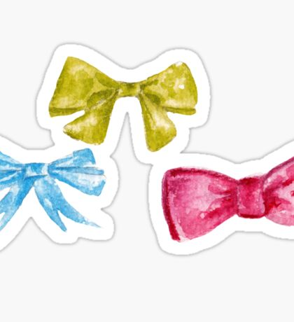 watercolor bow Sticker