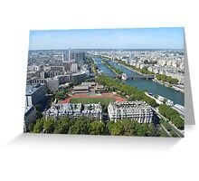View from Eiffel Tower, Paris  Greeting Card