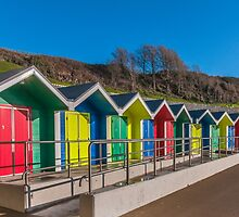 Barry Island Beach Huts by Steve Purnell