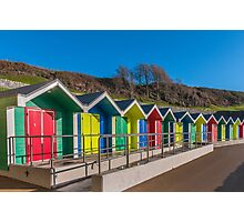 Barry Island Beach Huts Photographic Print