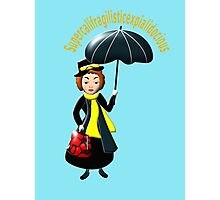 Mary Poppins scarf, etc. design Photographic Print