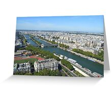 View from top of Eiffel Tower Greeting Card