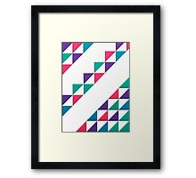 colorful triangle Framed Print