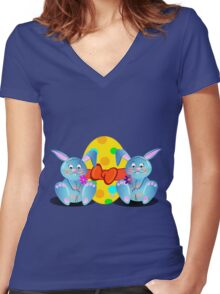 Cute Easter Tee Women's Fitted V-Neck T-Shirt
