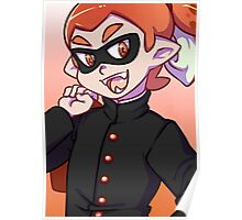 Orange Gakuran Squid  Poster