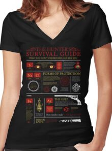The Hunters Survival Guide Women's Fitted V-Neck T-Shirt