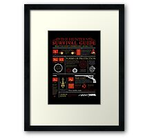 The Hunters Survival Guide Framed Print
