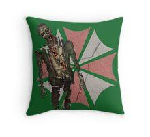 Concrete Umbrella Logo with Zombie Throw Pillow