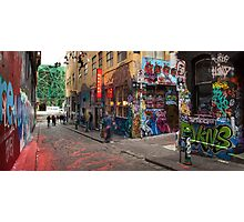 Corner Hosier Lane and Rutledge Place Photographic Print