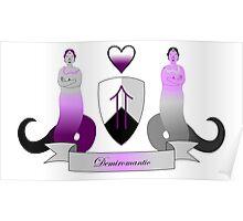 Demiromantic Crest Poster