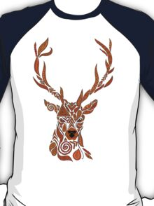 Geo-Stag Brown  T-Shirt