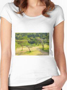 Masai Lodge Park, KENYA Women's Fitted Scoop T-Shirt