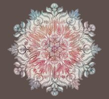 Autumn Spice Mandala in Coral, Cream and Rose One Piece - Short Sleeve
