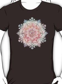 Autumn Spice Mandala in Coral, Cream and Rose T-Shirt
