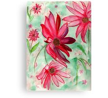 The Red Flowers for Christmas Canvas Print