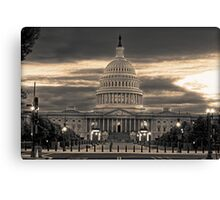 The Capital at Dusk Canvas Print