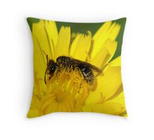A Healthy Dusting of Pollen Throw Pillow