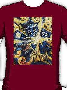 Doctor Who - Tardis Paint by Van Gogh T-Shirt