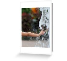 Childs Hand in Water Greeting Card