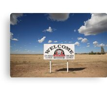 Route 66 - Midpoint Sign Canvas Print