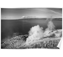 Yellowstone Lake and Geysers Poster