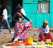 Street Market near Mwiki Nairobi, KENYA by Atanas Bozhikov Nasko