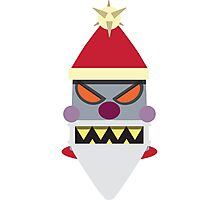 Robot Santa Photographic Print