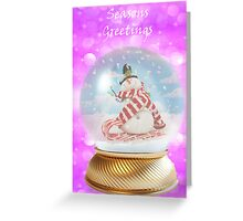 Snowman snowglobe Christmas card Greeting Card