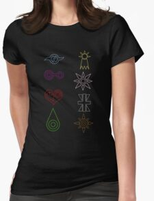 Crest Zip up Womens Fitted T-Shirt