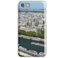 River view from Eiffel Tower, Paris, France iPhone Case/Skin