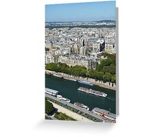 River view from Eiffel Tower, Paris, France Greeting Card
