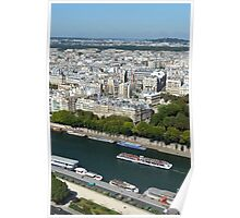 River view from Eiffel Tower, Paris, France Poster
