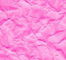 Digital Pink Wrinkled Paper Texture Look-like by destei