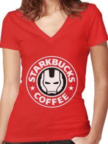 Starkbucks Coffee Women's Fitted V-Neck T-Shirt