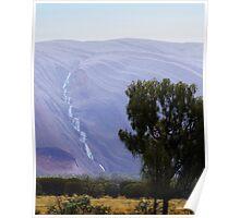 Rain on Uluru Poster