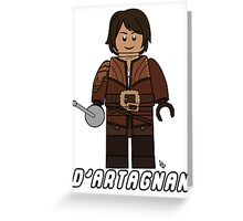 D'Artagnan Lego Greeting Card