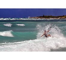 Riding the Waves Photographic Print
