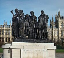 The Burghers Of Calais, in London, by Rodin by Al Bourassa
