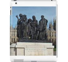 The Burghers Of Calais, in London, by Rodin iPad Case/Skin