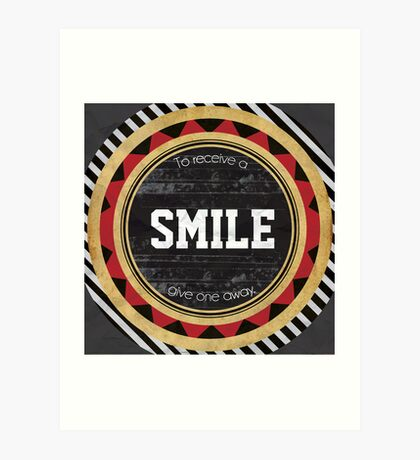 To Receive A Smile Art Print