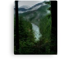 Gold Creek Lookout HDR Canvas Print
