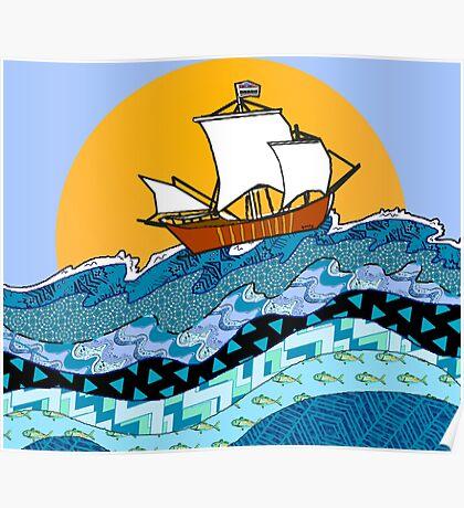 Sailing the High Seas Poster