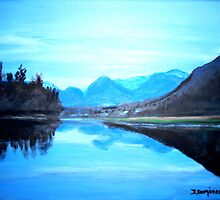Hatzic Lake Reflections by Teresa Dominici