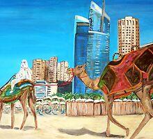Dubai Marina - The City of Dubai by Teresa Dominici