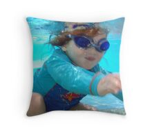 Water Baby Throw Pillow