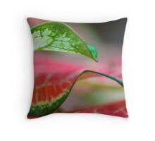 Thin Green lines Throw Pillow