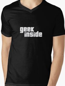 Geek Inside - GTA Style Mens V-Neck T-Shirt
