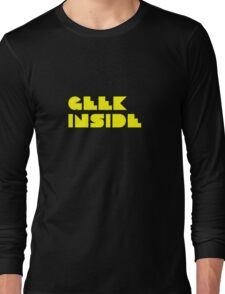 Geek Inside - Pac Man Style Long Sleeve T-Shirt