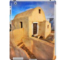 On top of Pyrgos village, Santorini island iPad Case/Skin