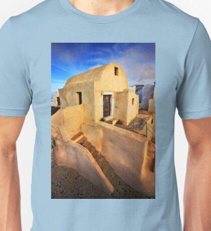 On top of Pyrgos village, Santorini island Unisex T-Shirt